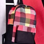 Стильный рюкзак black-red