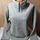 Теплый свитер толстовка высокое горло