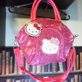 Блестящая малиновая сумочка Hello Kitty с глитером
