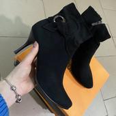 Натуральные замшевые женские ботинки .замш.