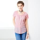 Хлопковая блуза в клетку tcm Tchibo Германия, размер примерно 36/38 евро, на наш 44/46