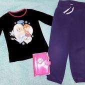 Тёплые штаны и реглан +подарок,на девочку  8-9 лет