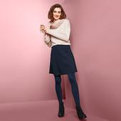 Идеальная теплая юбка на любой случай из структурной ткани от Tchibo (германия) размер 40 евро=46-48