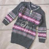 Стоп !❤ Фирменное трикотажное теплое платье,7-8 лет❤ Много лотов!