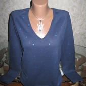 Хорошенький свитер в горошек с содержанием шерсти 14р.,грудь 49
