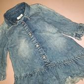 Джинсовое платье для девочки 6-9 месяцев от Next