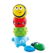 Набор сенсорных тактильных мячиков 4 шт | Массажные мячики для младенца |Tactile bug tower |