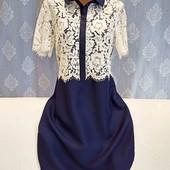 Платье с кружевом, размер М