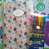 блокнот + набор цветных ручек