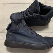 Кожаные Деми ботиночки Ecco 31 размер стелька 19,5 см