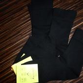 Черные носки без резинки, р.39-42, в лоте 3 шт