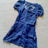 32-34р. Джинсовое платье с поясом miss selfridge