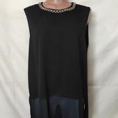 Лёгенькая фирменная блузочка с удлиненной спинкой, грудь 114-118