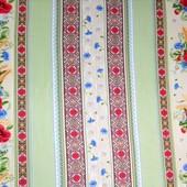 Вафельное полотно маки, 100%хлопок, отрез 0,7м*1,5м, на 3 полотенца