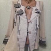 Шикарная эксклюзивная нарядная кофточка кардиган Orla from Tivoli льняные втавочки p.L Акция читайт