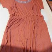 Терракотовое платье -туника-новое с бирками