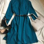 Платье миди изумрудового цвета , размер 16
