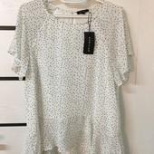 ☘ Лот 1 шт ☘ Шовковиста блуза легка тканина zilingo (Англія), рр. наш 48: xl євро