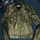 стильный пиджак котон с золотым опылением