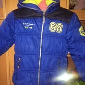 Куртка, холодная весна, внутри флис, размер 5 лет 110 см, Genuine. сост. хорошее