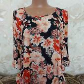 Блуза женская в цветочный принт Primark, размер М