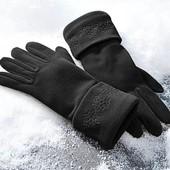 Распаровка!!!Теплые черные флисовые перчатки тсм tchibo германия размер 7,5