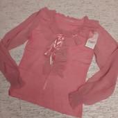 Последняя)))Женская стильная кофта AnnaMaria трикотаж шифон