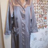 Шикарный атласный теплый халат на шикарные формы.