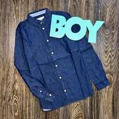 Рубашка на мальчика тонкий джинс от young style.размер 146.