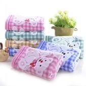 Махровые полотенца на льняной основе!Мишки!Качество отличное!
