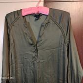 H&m uk6. Шёлковое платье рубашка, в бельевом стиле