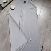 Бомбические брюки кюлоты серебристые по бокам разрезы на солнце блеск нереальный