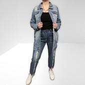 Дизайнерская джинсовая рванная куртка Ci Sono размер М
