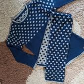 Платье с шарфиком теплое, туника 4-5 лет