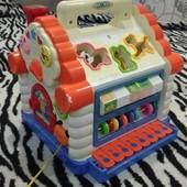 Лот игрушек для малышей, погремушки +развивающий коврик