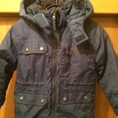 Куртка, термо ветровка, мембрана 2000, внутри флис, р. 3-4 года 104 см, Trespass. состояние хорошее