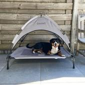 Крутой лежак для собак с защитой от солнца. Zoofari