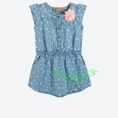 Джинсовое платье с морским принтом
