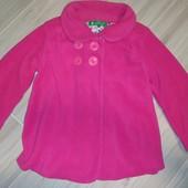 Красивое яркое флисовое пальтишко на девочку 4года замеры на фото
