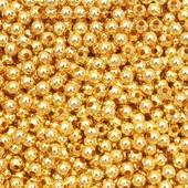 Бусинки золотые 4мм. Лот 100 шт
