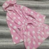 Яркий теплый флисовый халат на девочку