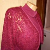 Очень красивое и дорогое платье миди с ажурным болеро