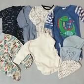 Для новорождённого р. 50+. Лот все, что на фото 9 единиц одежды. Беспл. доставка при покупке 3 лотов