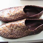 шикарные туфли мокасины кожаные 40/41р стельки 26,5 см