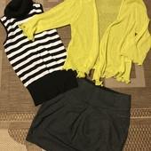 Кардиган, гольф та юбка розмір С в ідеалі