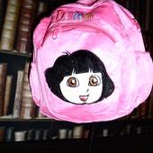 Розовый плюшевый рюкзак для девочки, нюанс