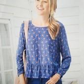 Легкая блуза из визкозы от Blue motion, размер евро S-M (36-38)
