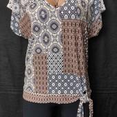 Трикотажная футболка с завязками, вискоза,m/L