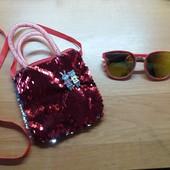 Очки и сумочка для девчушки на 3-5 лет.