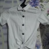 Рубашка Турция Лён 10-12 лет